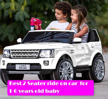 best 2 seater ride on car with parental remote control